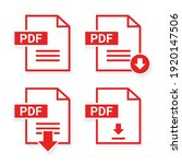 set of pdf  format and... | Shutterstock .eps vector #1920147506