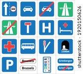 european union road sign set  ...   Shutterstock .eps vector #1920150626