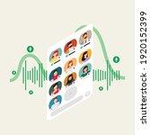 social media clubhouse app for... | Shutterstock .eps vector #1920152399