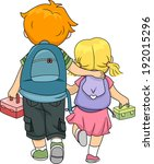 illustration of a big brother... | Shutterstock .eps vector #192015296