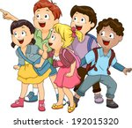 Illustration Of A Group Of Kid...