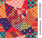 multicolor seamless patchwork... | Shutterstock .eps vector #1920155300