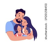 happy family together avatar.... | Shutterstock .eps vector #1920158453