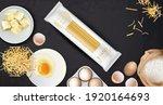 homemade pasta spaghetti... | Shutterstock .eps vector #1920164693