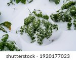 Close Up Of Curly Kale In The...