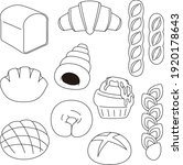 clip art of simple bread ... | Shutterstock .eps vector #1920178643