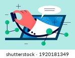 online doctor  telemedicine ... | Shutterstock .eps vector #1920181349