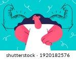 female self confidence  esteem  ... | Shutterstock .eps vector #1920182576