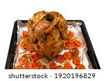 raw chicken stuffed on an open...