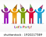 celebrating people vector... | Shutterstock .eps vector #1920217589