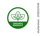 organic product with leaf badge ... | Shutterstock .eps vector #1920219140