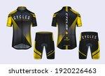 cycling jerseys mockup t shirt... | Shutterstock .eps vector #1920226463