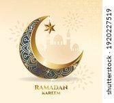 elegant crescent moon ornament. ... | Shutterstock .eps vector #1920227519