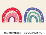 vector cute rainbow in boho...   Shutterstock .eps vector #1920242540