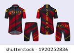cycling jerseys mockup t shirt... | Shutterstock .eps vector #1920252836
