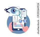 online ophthalmic touchscreen... | Shutterstock .eps vector #1920264926