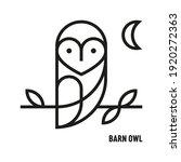 Barn Owl Icon. Ornithology ...