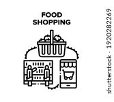 food shopping vector icon... | Shutterstock .eps vector #1920282269