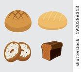 set vector bread icons. rye ... | Shutterstock .eps vector #1920286313
