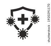 immune system icon. virus... | Shutterstock .eps vector #1920291170