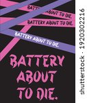 battery about to die. pattern | Shutterstock .eps vector #1920302216
