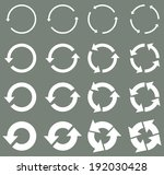 sixteen rotate arrow icon sign. ... | Shutterstock .eps vector #192030428
