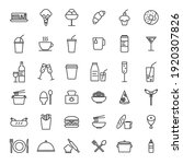 set of simple food icon in... | Shutterstock .eps vector #1920307826
