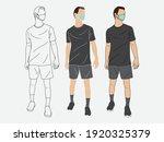 men standing wearing sportswear.... | Shutterstock .eps vector #1920325379