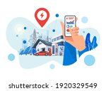 smartphone with electricity... | Shutterstock .eps vector #1920329549