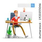 nerd larry is searching the... | Shutterstock . vector #1920355046