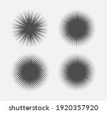 halftone circle set.dotted... | Shutterstock .eps vector #1920357920