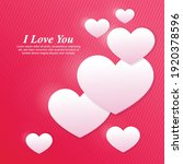 i love you  text with hearts ... | Shutterstock .eps vector #1920378596