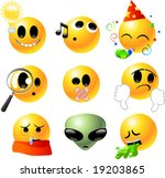 vector clipart illustrations of ... | Shutterstock .eps vector #19203865
