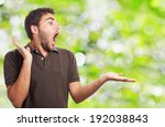 portrait of surprised man... | Shutterstock . vector #192038843