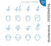 hair loss related icons.... | Shutterstock .eps vector #1920396956