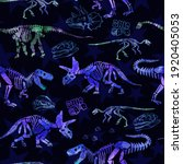 dinosaur skeleton seamless...   Shutterstock .eps vector #1920405053