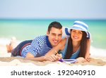 young students in love on the... | Shutterstock . vector #192040910