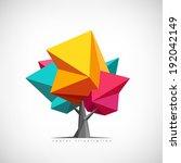 conceptual polygonal tree.... | Shutterstock .eps vector #192042149