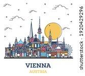 outline vienna austria city... | Shutterstock .eps vector #1920429296