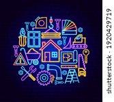 construction neon concept.... | Shutterstock .eps vector #1920429719