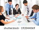 business people working together | Shutterstock . vector #192044069