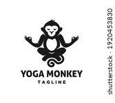 monkey meditation yoga position ...   Shutterstock .eps vector #1920453830