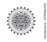 polynesian tattoo design mask.... | Shutterstock .eps vector #1920466103