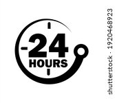 24 Hours A Day Service Icon...