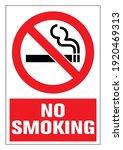 danger  no smoking cigarette... | Shutterstock .eps vector #1920469313
