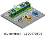 isometric an electric bus  a... | Shutterstock .eps vector #1920470606