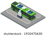 isometric an electric bus  a... | Shutterstock .eps vector #1920470630