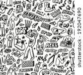 rap hip hop  graffiti  ... | Shutterstock .eps vector #192047690