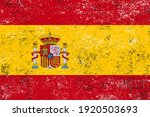 vector old dirty flag of spain. | Shutterstock .eps vector #1920503693