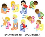 note and kids global  | Shutterstock .eps vector #192050864